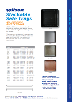 Stackable Safe Trays