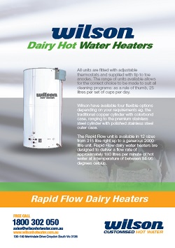 Wilson Rapid Flow Dairy Heaters Brochure Image