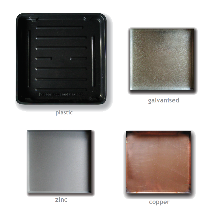 Safe Trays | Glavanised, Zinc, Copper